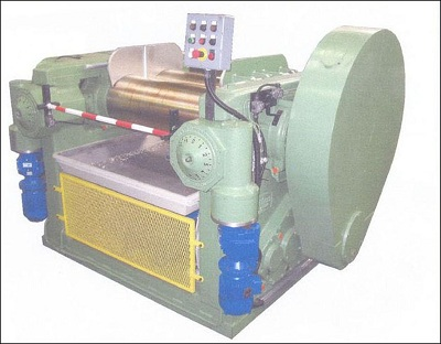 Roll Mill Mixer for Rubber Processing 400 x 1000 Comerio Ercole Manufacturer second-hand overhauled (Item Code 40010006)